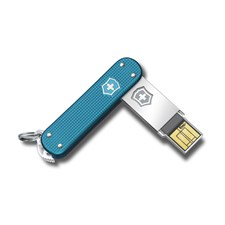 Slim Alox blau gerippt 64GB USB Stick