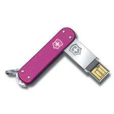 Slim Alox pink gerippt 8GB USB Stick