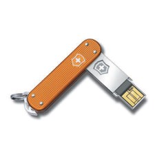 Slim Alox orange gerippt 64GB USB Stick
