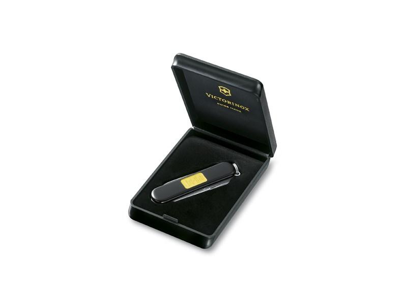 victorinox sackmesser kl taschenwerkzeug mit goldbarren anz funktionen 7 schwarz. Black Bedroom Furniture Sets. Home Design Ideas